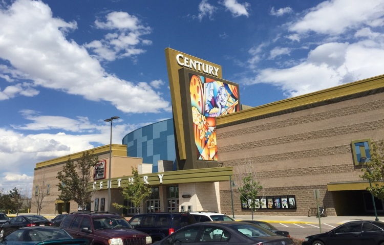 A photo by Juan De of the new Century movie theater in Aurora, which sits in the same spot where a mass shooting took place on July 20, 2012.